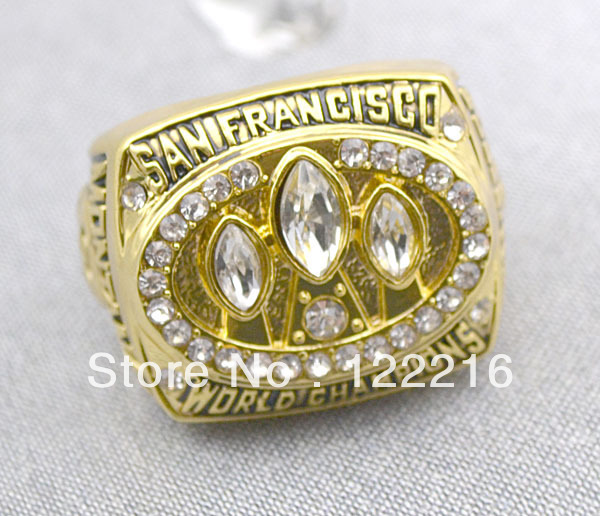 Free Shipping replica 1988 San Francisco 49ers Super Bowl XXIII World Championship Ring Size 10(China (Mainland))
