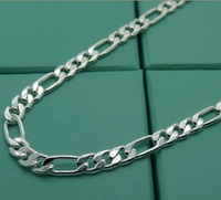 Hot.22inch . 9MM . Free shipping.925 silver fashion jewelry  Necklace.antiallergic,factory price.Wholesale 925 silver necklace