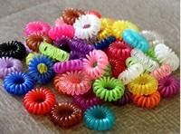 100pcs/Lot Candy Color Telephone Cord Headband Girl's Hair Ties Head band Hair Strap Hair Bands J006