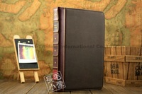 New book style hardback leather case Leather Pouch Bag Cover stand for New Ipad mini Top Quality & design
