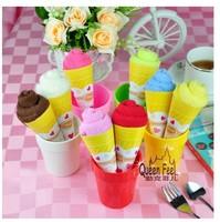 Creative Ice Cream Towel cake towel 20*20cm towel mix colors Birthday gift 10pcs/lot Free shipping