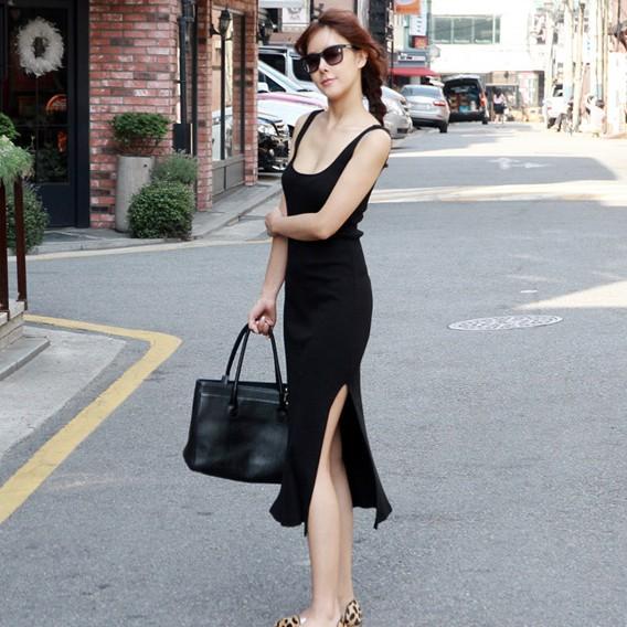 Long Black Summer Dress | klextk