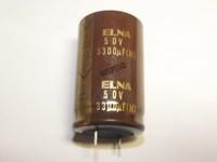 2pcs ELNA Silmic Electrolyti cCapacitor s3300u F50