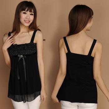 2013 summer new women's halter top female backing shirt Lei Sijia cotton free shipping shaped collar