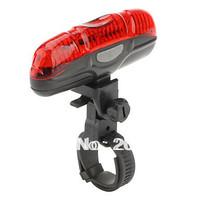 free shipping 200pcs/lots 5 LED Bicycle Bike Safety Light 2XAAA