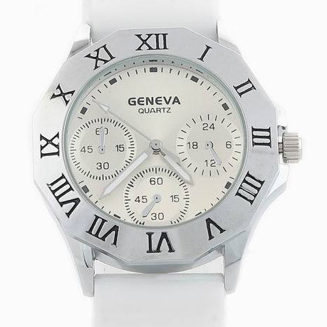 New fashion retro Roman numerals watch the Geneva watch series silicone watch geneva watch(China (Mainland))