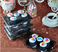 Creative Christmas wedding birthday gift Japanese sushi lovers cake towel 5pcs/case free shipping