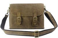 Wholesale & Retail Cool Men Brown Crazy Horse Real leather Men Shoulder Bag Men Leather Messenger Bag Men Leisure Bag Sling Bag