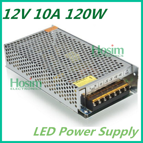 1pcs 12V 10A 120W Switching Power Supply,110V/220V AC input,12V Output for LED Strip Light for CCTV camera +free shipping(China (Mainland))