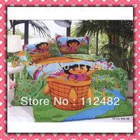 Reactive dyes printed 4pcs Bedding Dora Cotton Bedding Set Children's Free Shipping