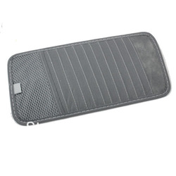 Gray Car Visor CD DVD Disk Card Case 12PCS Disks Holder Clipper Bag Hold YM0014H Free Shipping(China (Mainland))