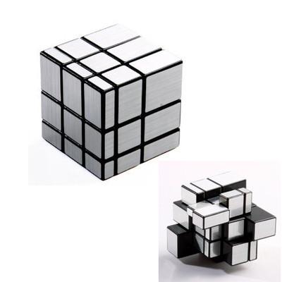 3x3x3 Mirror Blocks Silver Shiny Magic Cube Puzzle Brain Teaser IQ Kid Funny 1pc FZ688(China (Mainland))