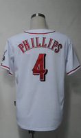 #4 Brandon Phillips Men's Authentic Home White Cool Base Baseball Jersey