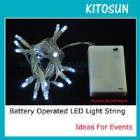 DHL Free shipping 50pcs/lot 3M 30 White  battery led string light
