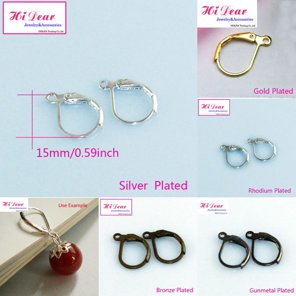 Wholesale Fashion Earring Wire Hooks Silver(5 Colors) Plated Brass/Copper Metal Earrings DIY Accessory/Findings For Women/DG21(China (Mainland))