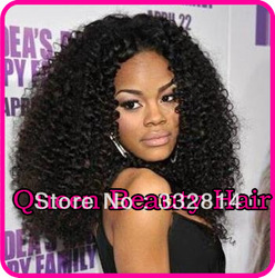 "Freeshipping!!Stock!!! Glueless Full Lace/lace front wig Afro kinky curly 10""-26""available same as celebrity hair(China (Mainland))"