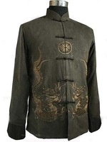 Restore ancient ways Chinese Tradition Embroidered Men Dragon Kung Fu Shirt Jacket/Coat Vest  M--3XL