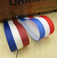 40 Yards1'' 25mm Free Shipping printing ribbon rib knitting Grosgrain ribbon navy print HAIR DIY accessory
