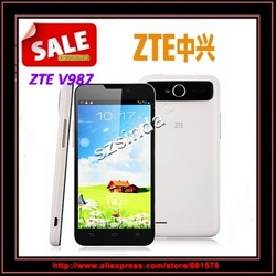 ZTE V987 MTK6589 Quad core 5.0 Inch 1280*720 IPS Screen Android 4.1 4GB ROM Dual Cameras 8.0Mp Cellphone / Anna(Hong Kong)