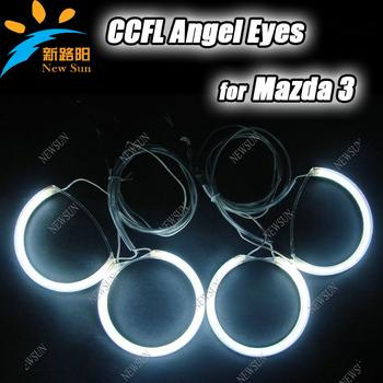 CCFL car Angel eyes light for Mazda3 headlight ccfl angel eyes halo rings kit Red Blue White Yellow Purple Green ccfl auto lamp