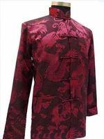 Chinese Men Dragon Kung Fu Shirt Jacket/Coat Vest M--3XL