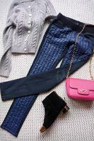 Celyn.b jeans cotton patchwork jeans