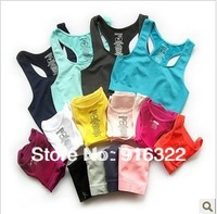 Free Shipping 2pcs/lot newest hotselling Women X-training Vest DANSKIN Sports Bra Yoga Bra