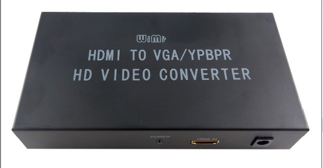 Hot WIMI HDMI to VGA/YPBPR component video R/L Converter Adapter HD Video Converter - Free Shipping(China (Mainland))