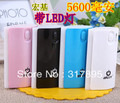 Free shipping Portable 5600mAh Rechargeable Battery Pack Power Bank for iPhone Most Mobile Phones
