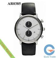 Fashion AR0385 Men's Watch Hardlex Glass Quartz Watches Stainless S. Wristwatch Free Ship With Original box
