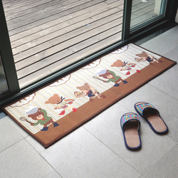 Bear entrance mats kitchen slip-resistant pad doormat foot pad rectangle floor mats(China (Mainland))