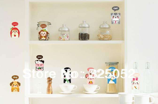 2013New Laptop/ Refrigerator /Toilet Switch/24*50 DIY Removable Art Vinyl Children/kid Wall Stickers Decor Mural Decal(China (Mainland))