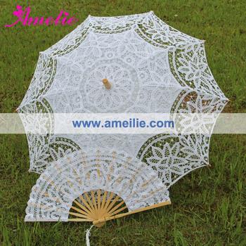 1pc/Lot Кружево Fan And Кружево Umbrella