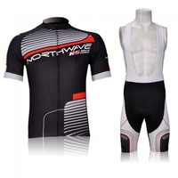 Wholesale 2013 NEW Northwave black and red cycling team short sleeve and bib pants US cycling clothing XS~4XL free shipping