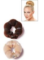 250pack Free shipping Hot New Magic Sponge Hair Styling Bun Maker Twist Curler Tool