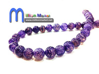 Free Shipping wholesale 50pcs/bag 10mm purple round Semi Precious stone agate beads for bracelet/necklace jewelry making