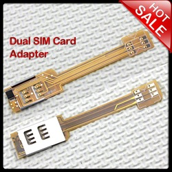NEW Dual SIM Card Double SIM Adapter Use Two SIM Supported GSM/3G For iPhone 4s(China (Mainland))