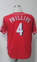 #4 Brandon Phillips Men's Authentic Alternate Home Red Cool Base Baseball Jersey