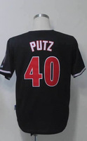 #40 J.J. Putz Men's Authentic Alternate Home Black Cool Base Baseball Jersey