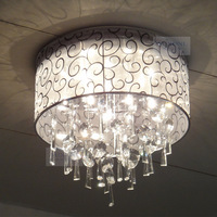 Bedroom lamp crystal lamp cloth cover ceiling light modern lighting brief lamps
