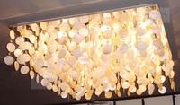 Living room lights modern crystal lamp natural shell brief lighting ceiling light ax8963