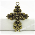 14pcs Vintage Charms  Cross Pendant Antique bronze Fit Bracelets Necklace DIY Metal Jewelry Making