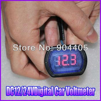 DC 12V/24V Digital Red LED Auto Car Battery Voltmeter Voltage Gauge Volt Meter