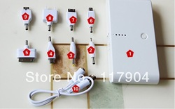 Portable Double USB 20000mAh Power Bank 5in1 Backup Power Supply Device For All The Charging Product(China (Mainland))