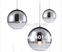 New Modern Chrome Glass Mirror Ball Pendant Lamp Light 15cm-L11