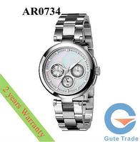 Fashion AR0734 Women's Watch Hardlex Glass Quartz Watches Pearl Dial Wristwatch Free Ship With Original box