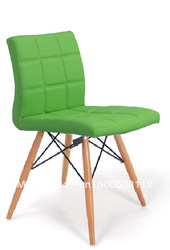 Cheap PVC with wood chair(China (Mainland))