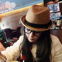 Roll-up hem pure woolen fashion hat bow jazz hat female