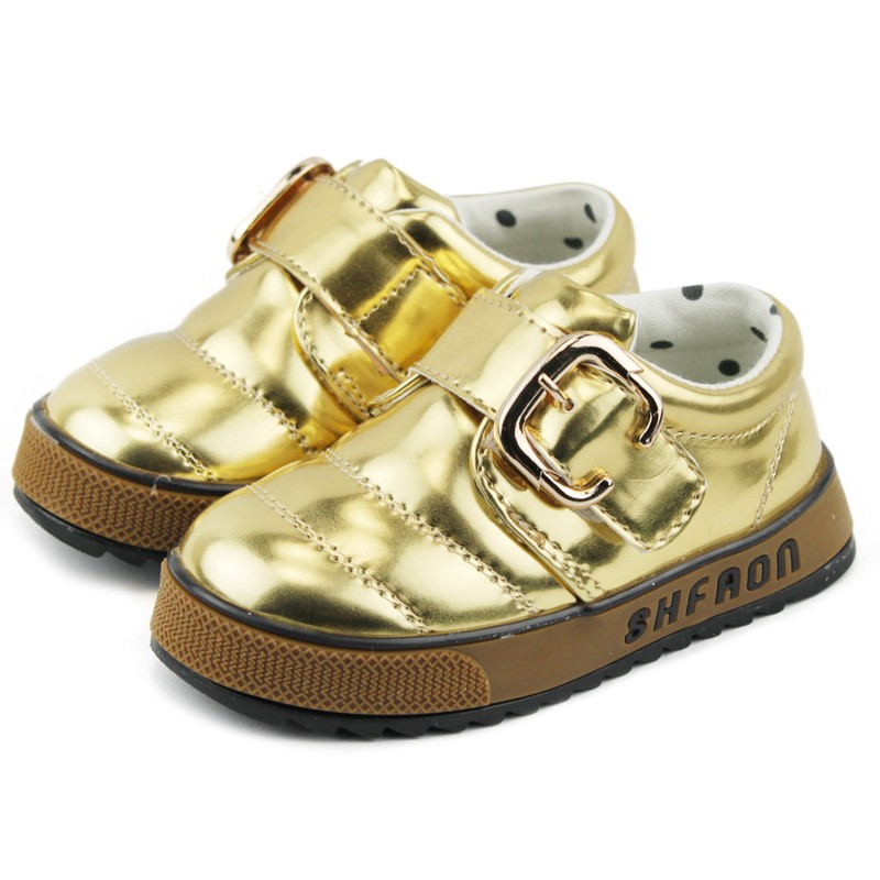 2013 spring and autumn product child leather baby children shoes female glossy PU breathable shoes male child single shoes(China (Mainland))