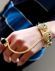 Super lion head rivet belt ring bangles(China (Mainland))
